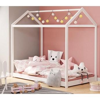 Drewniane łóżko dziecięce domek - Tutti