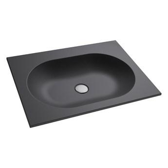 Umywalka wpuszczana RAJA Sky Black 50cm