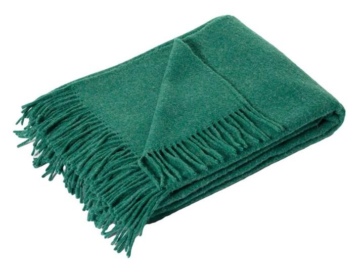 Pled Zelandia 140x200cm melange deep green, 140 x 200 cm 140x200 cm 130x180 cm Wełna Kolor Zielony Koc Kategoria Koce i pledy