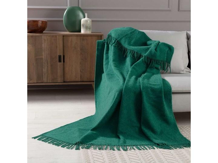 Pled Zelandia 140x200cm melange deep green, 140 x 200 cm 140x200 cm 130x180 cm Kolor Zielony Wełna Koc Kategoria Koce i pledy