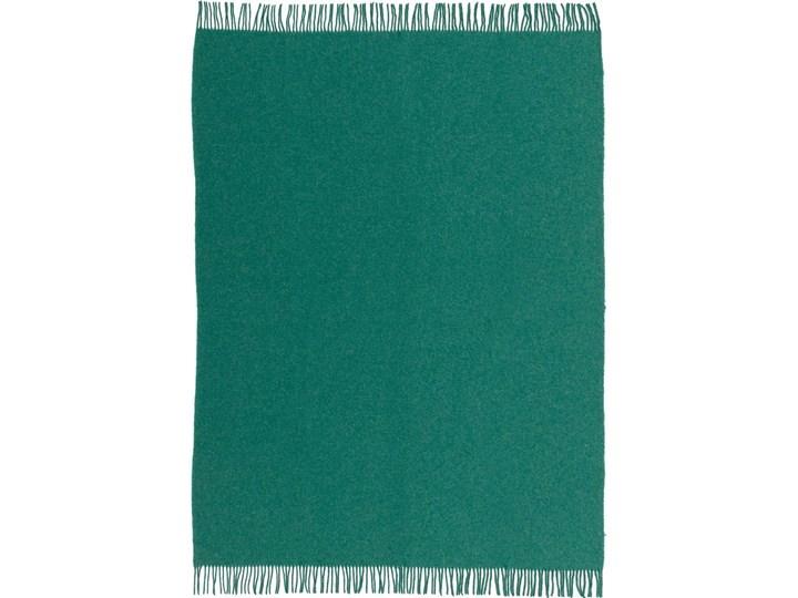 Pled Zelandia 140x200cm melange deep green, 140 x 200 cm 140x200 cm Kolor Zielony 130x180 cm Koc Wełna Kategoria Koce i pledy