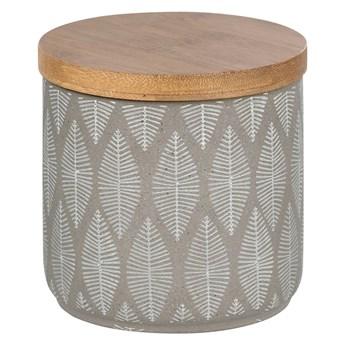 Pojemnik ceramiczny z wieczkiem z drewna bambusu Wenko Tupian