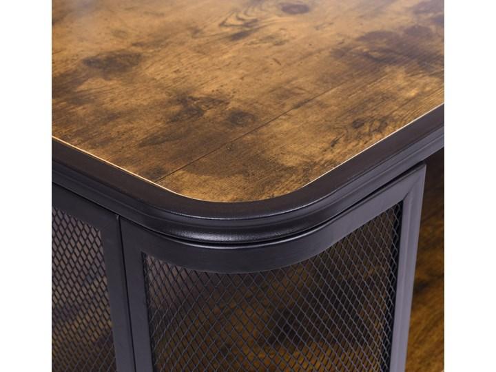 Stolik loftowy kawowy Sargot Płyta meblowa Wysokość 60 cm Ława Wysokość 40 cm Stal Funkcje Z półkami