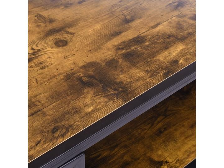 Stolik loftowy kawowy Sargot Wysokość 60 cm Ława Wysokość 40 cm Płyta meblowa Stal Styl Nowoczesny