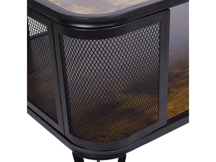 Stolik loftowy kawowy Sargot Płyta meblowa Wysokość 40 cm Ława Wysokość 60 cm Rozmiar blatu 60x120 cm Stal Funkcje Z półkami