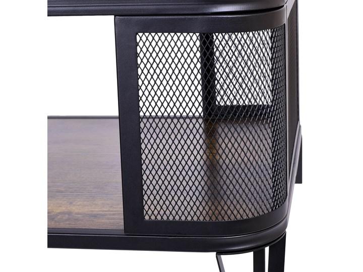 Stolik loftowy kawowy Sargot Ława Wysokość 60 cm Stal Płyta meblowa Wysokość 40 cm Styl Industrialny
