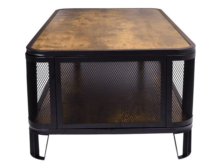 Stolik loftowy kawowy Sargot Płyta meblowa Wysokość 60 cm Wysokość 40 cm Ława Stal Kategoria Stoliki i ławy