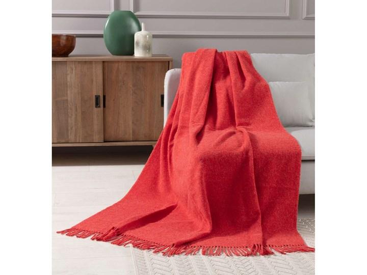 Pled Zelandia 140x200cm melange red, 140 x 200 cm Koc Kategoria Koce i pledy Wełna 130x180 cm 140x200 cm Pomieszczenie Sypialnia