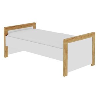 SELSEY Łóżeczko dla dzieci Oatie z barierką, szufladą i materacem 70x140 cm