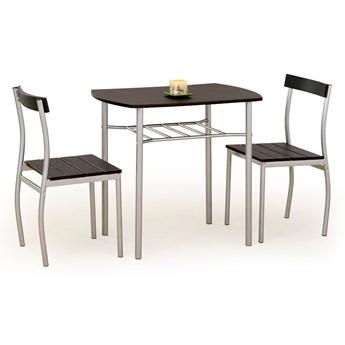 Nowoczesny Zestaw kuchenny stół i krzesła Wenge KADRO