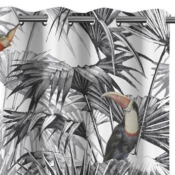 Zasłony zaciemniające na przelotkach Egzotyczne Rośliny 140x250 cm TROPICAL BIRD
