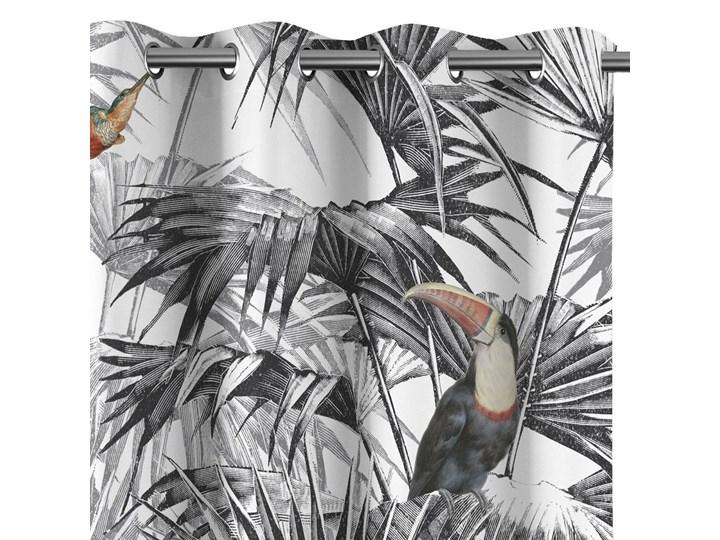 Zasłony zaciemniające na przelotkach Egzotyczne Rośliny 140x250 cm TROPICAL BIRD Poliester Mocowanie Kółka Zasłona zaciemniająca Wzór Nadruk