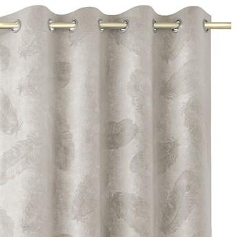 Zasłony welwetowe tłoczone na przelotkach Dekoracyjne 135x250 cm Cappucino PAONNE