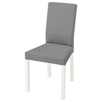 IKEA KÄTTIL Krzesło, biały/Knisa jasnoszary, Głębokość: 52 cm