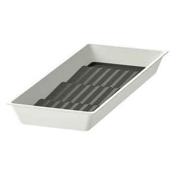 IKEA UPPDATERA Taca z podstawką na przyprawy, biały/antracyt, 20x50 cm