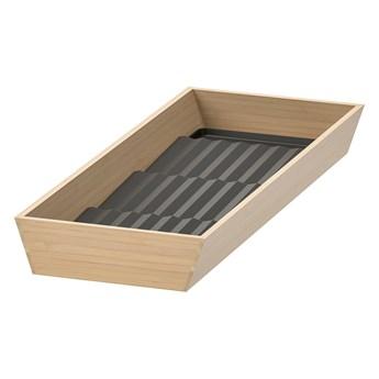 IKEA UPPDATERA Taca z podstawką na przyprawy, jasny bambus/antracyt, 20x50 cm