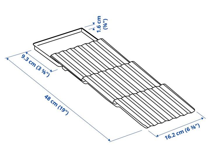 IKEA UPPDATERA Uchwyt na przyprawy, antracyt, 20x50 cm Kategoria Przyprawniki Tworzywo sztuczne Kolor Szary