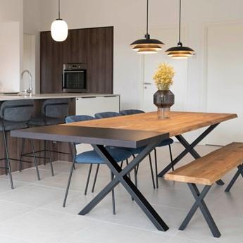 SELSEY Stół rozkładany Lemucto z blatem powiększającym dąb olejowany 160-210x95 cm