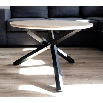 Okrągły stolik kawowy w stylu industrialnym Triple PRO