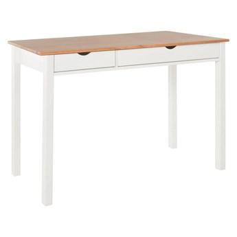 Biało-brązowe biurko z drewna sosnowego Støraa Gava, dł. 120 cm