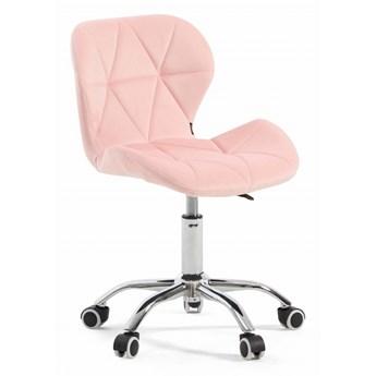 Krzesło obracane różowe ART118S / welur #67