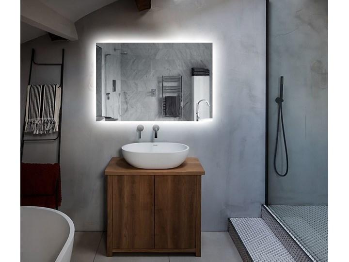 Lustro Shape 04 + Ambilight Lustro podświetlane Prostokątne Ścienne Kolor Srebrny