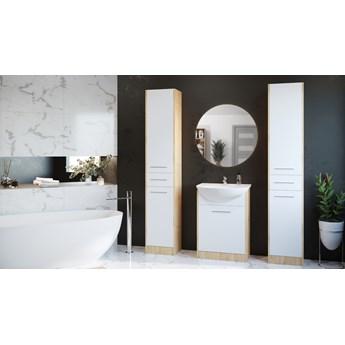 Meble do łazienki z lustrem SLIDO MAX dąb artisan / biały