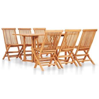 Zestaw drewnianych mebli ogrodowych - Trivo 4X