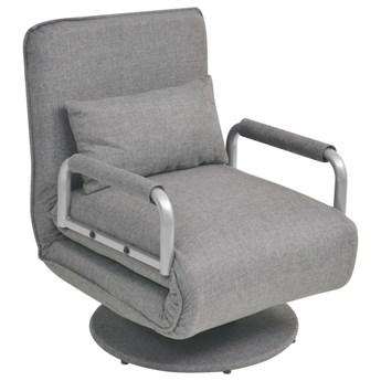 Jasnoszary fotel rozkładany - Miliere