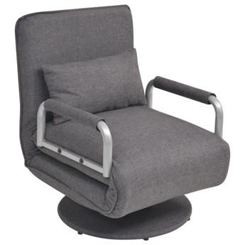 Ciemnoszary fotel rozkładany - Miliere