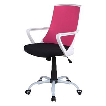 SELSEY Fotel biurowy Genner różowy