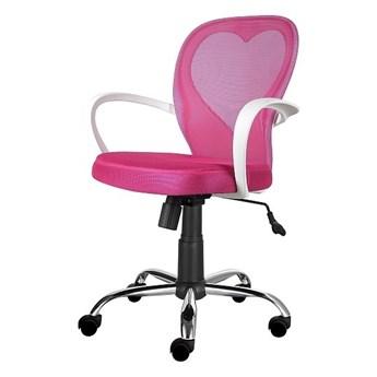 SELSEY Fotel biurowy Mia różowy