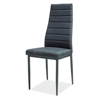 SELSEY Krzesło tapicerowane Grado czarne
