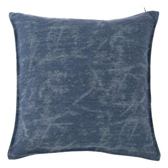 Ciemnoniebieska poduszka dekoracyjna Tiseco Home Studio Chester, 44x44 cm