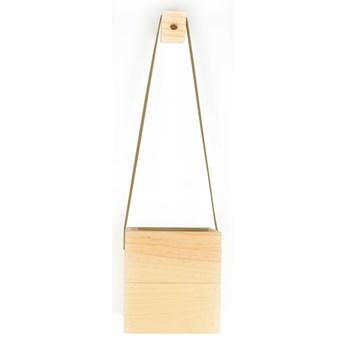 Doniczka wisząca z drewna jodłowego Surdic Colgante, 17x62 cm