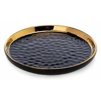 Okrągła taca dekoracyjna Lija Black 20cm