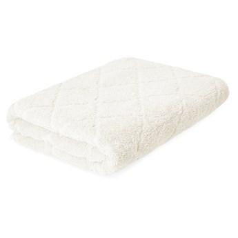 SAMINE Ręcznik z marokańską koniczyną ecru 70x130 cm - Homla