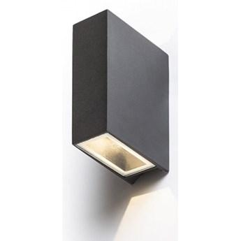 UKKO ścienna czarna  230V LED 2x3W 55° IP54  3000K kod: R12555