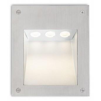 AKORD wpuszczana w ścianę  stal nierdzewna 230V LED 3W IP65  3000K kod: R10546