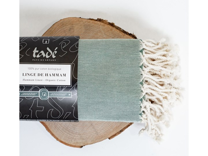 Ręcznik Hammam duży oliwkowy Bawełna Ręcznik plażowy Ręcznik do sauny Kolor Zielony
