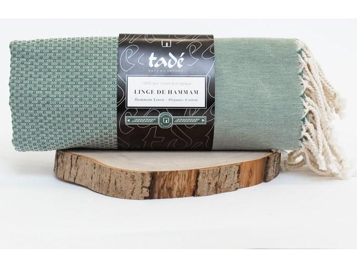 Ręcznik Hammam duży oliwkowy Ręcznik do sauny Bawełna Ręcznik plażowy Kolor Zielony