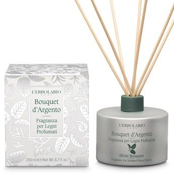 L'Erbolario Bouquet d Argento Perfumy do patyczków zapachowych (dyfuzor), 200ml