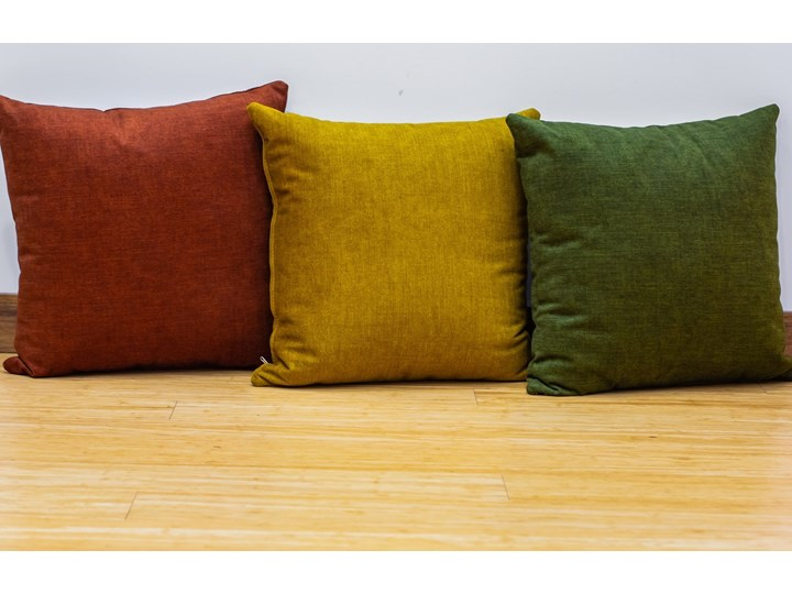Poduszka Eco z wypełnieniem zielona Poduszka dekoracyjna Poliester Kolor Zielony