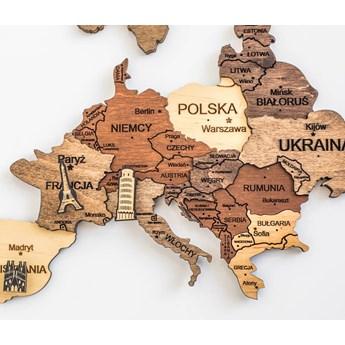 Mapa świata 3D, rozmiar XXL, Enjoy The Wood
