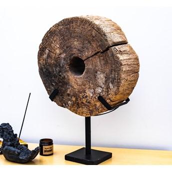 Drewniana dekoracja ze stojakiem