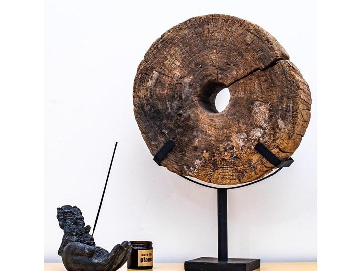 Drewniana dekoracja ze stojakiem Drewno Metal Kategoria Figury i rzeźby