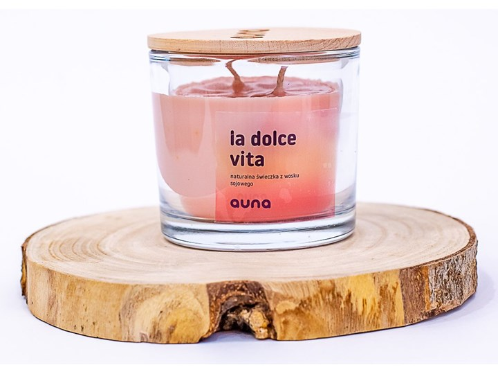 Świeczka La Dolce Vita, Auna Świeca Świeca zapachowa Drewno Kategoria Świeczniki i świece