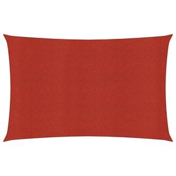 vidaXL Żagiel przeciwsłoneczny, 160 g/m², czerwony, 2,5x5 m, HDPE