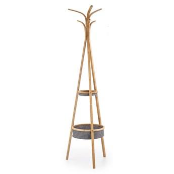 Wieszak W63, z drewna bambusowego, w skandynawskim stylu
