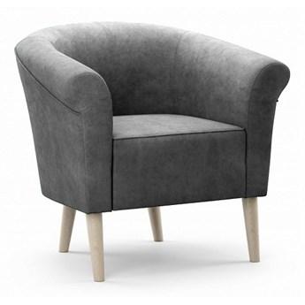 Bettso Elegancki fotel tapicerowany PERO - szary / R91